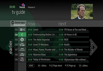 The New Freesat TV guide